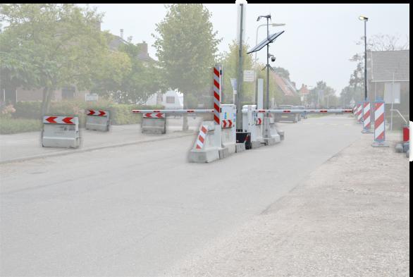 Tijdelijke Slagboom Roadblock